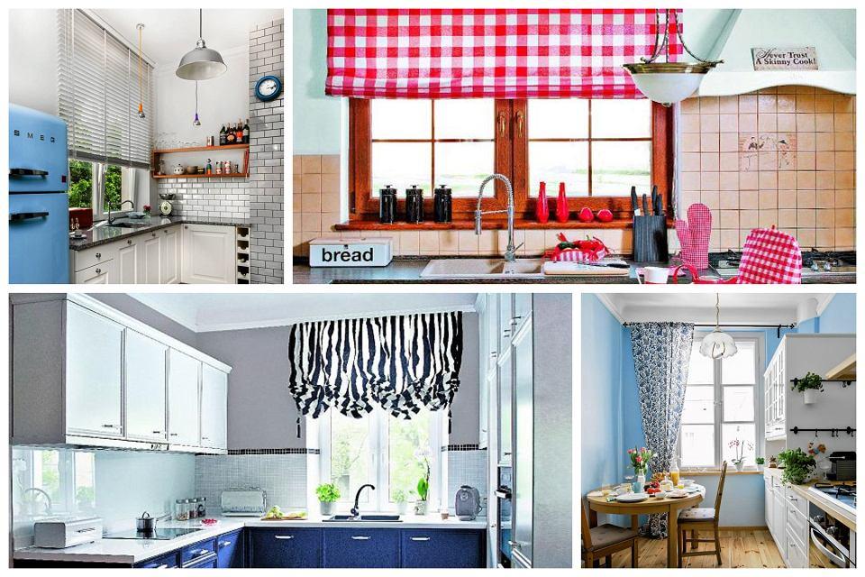 Pomysły na zasłonięcie okna w kuchni