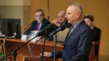 Prezydent Inowrocławia Ryszard Brejza podczas nadzwyczajnej sesji sejmiku 'Województwo kujawsko-pomorskie - terazniejszosc i wyzwania rozwojowe'. Włocławek, 14 marca 2016