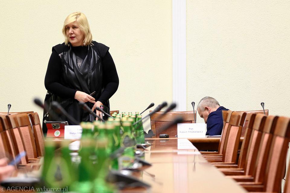 Komisarz UE Dunja Mijatovic podczas posiedzenia Sejmowej Komisji Spraw Zagranicznych. Warszawa, Sejm, 9 stycznia 2018