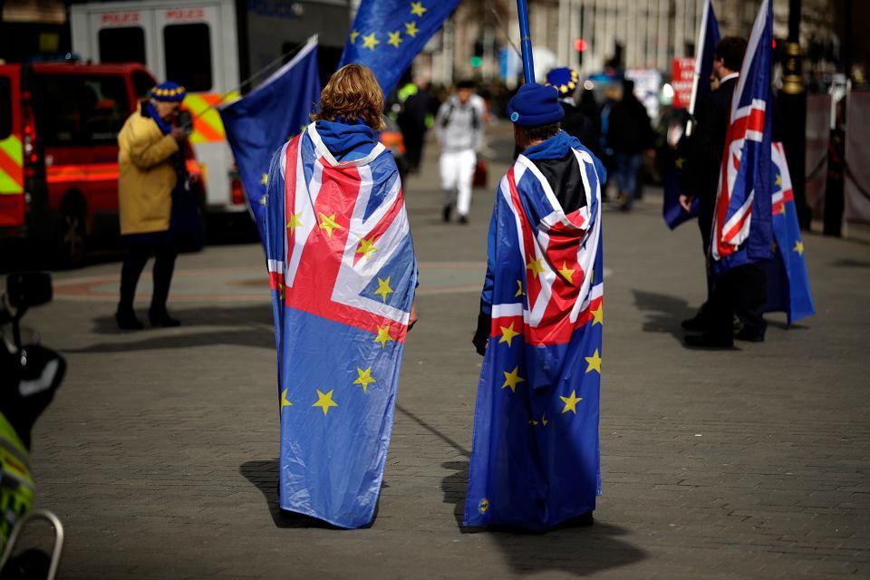 Przeciwnicy brexitu w Londynie.