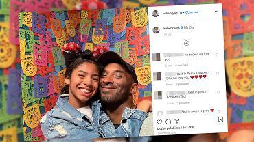 Kobe Bryant i jego córka Gianna zginęli w katastrofie śmigłowca.