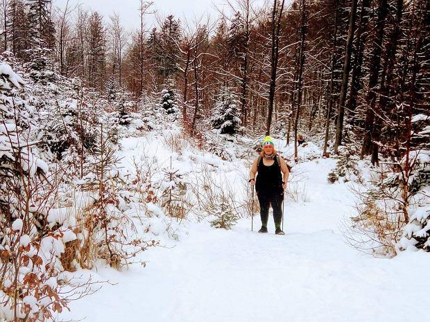 Gosia podczas wycieczki na Baranią Górę (fot: Jacek Więzik)
