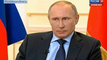 Władymir Putin podczas konferencji