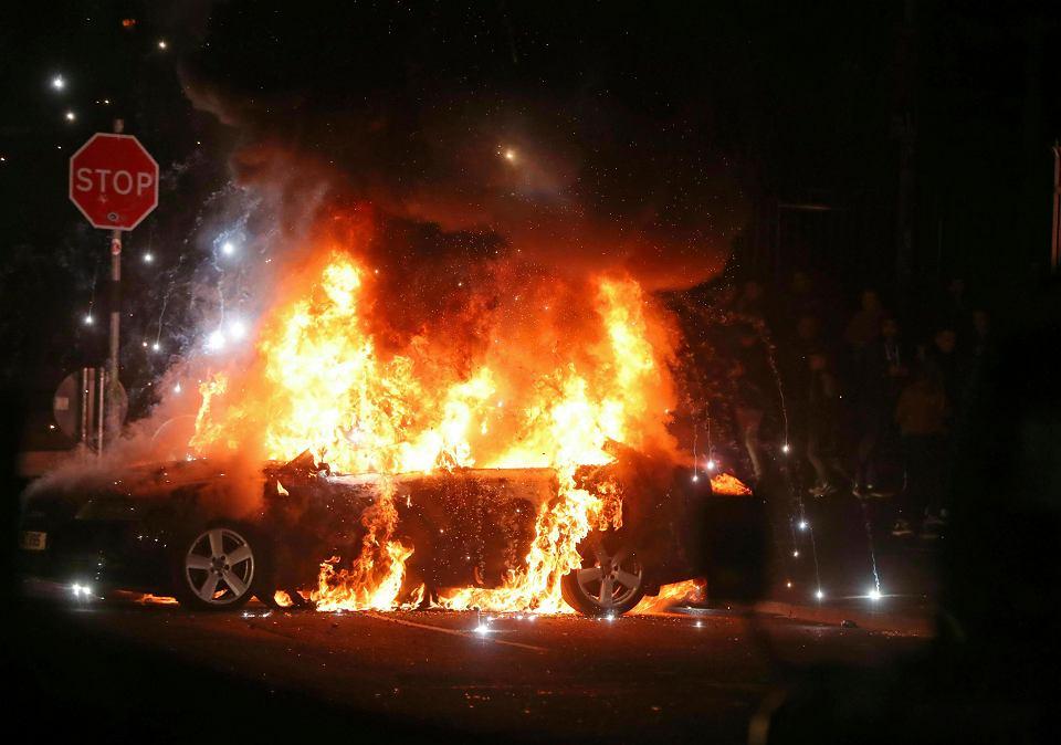 Zamieszki w Londonderry, Irlandia Północna, 18 kwietnia 2019