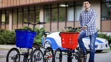 Zmodyfikowany rower - wynalazek Wojciecha Janasa