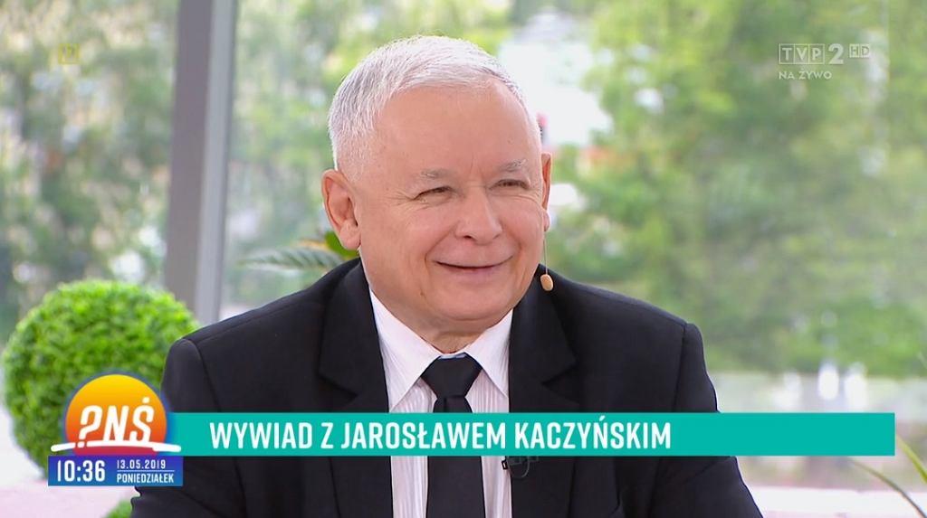 Jarosław Kaczyński w 'Pytaniu na śniadanie'
