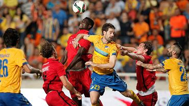 Inaki Astiz w meczu APOEL Nikozja - FC Midtjylland