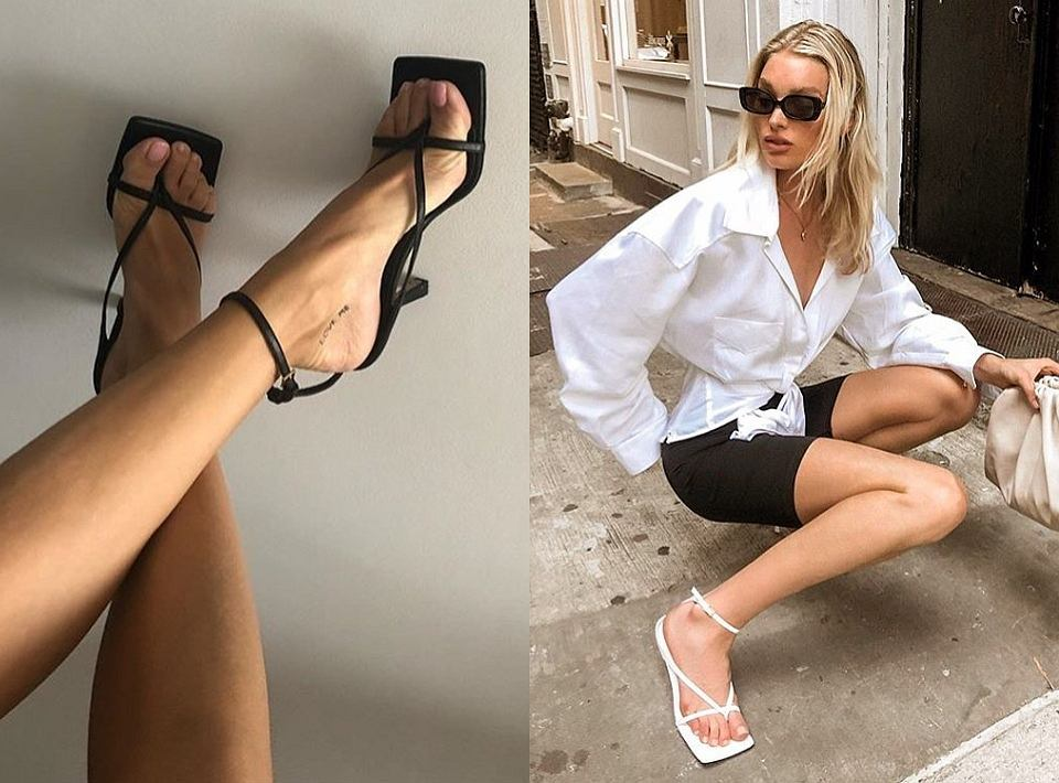 Sandały z kwadratowym noskiem