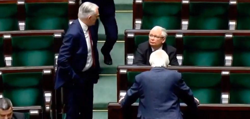 Jarosław Gowin próbował porozmawiać z Jarosławem Kaczyńskim