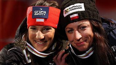 Sylwia Jaśkowiec i Justyna Kowalczyk