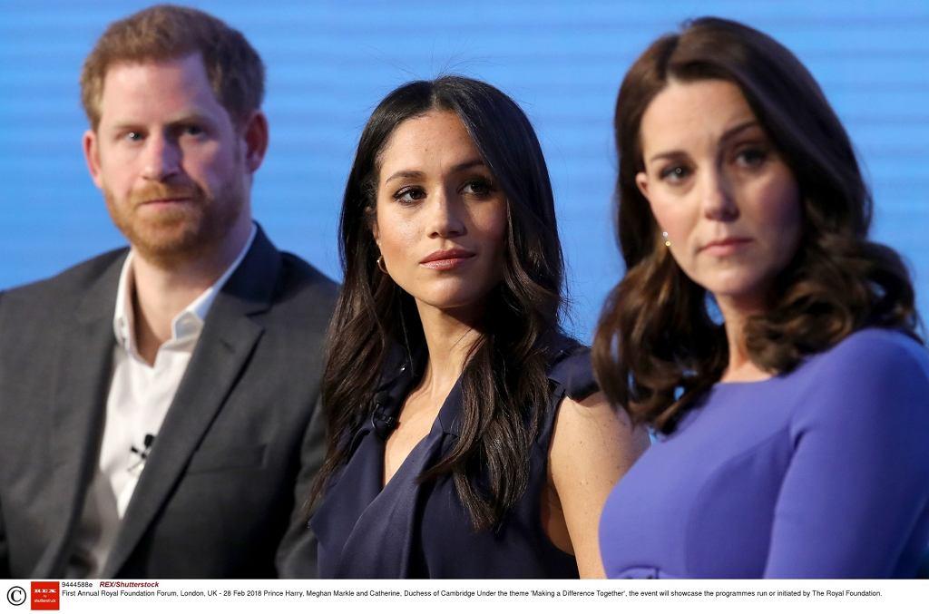 Forum królewskiej fundacji - księżna Kate, Meghan Markle i książę Harry