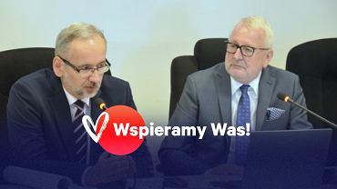 Prof. Andrzej Matyja i minister Adam Niedzielski