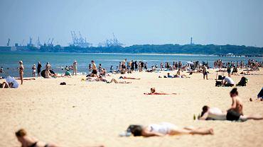 Plażowicze - Gdańsk, plaża Jelitkowo, 12 czerwca 2019