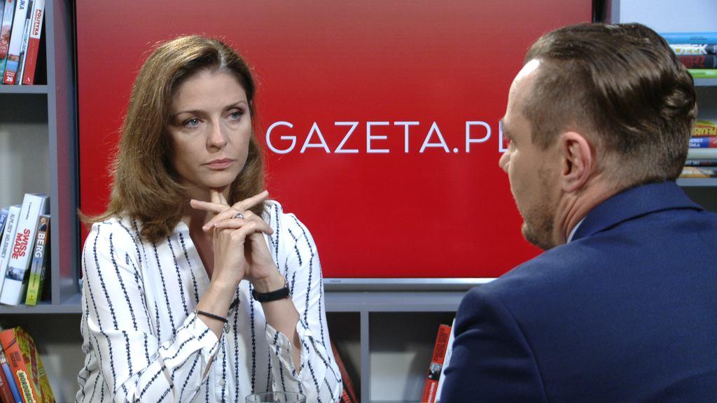 Joanna Mucha w porannej rozmowie Gazeta.pl