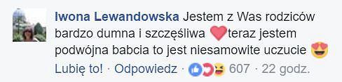 Komentarz mamy Roberta Lewandowskiego na Facebooku