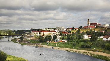 Rzeka Niemen w Grodnie. Białoruś.