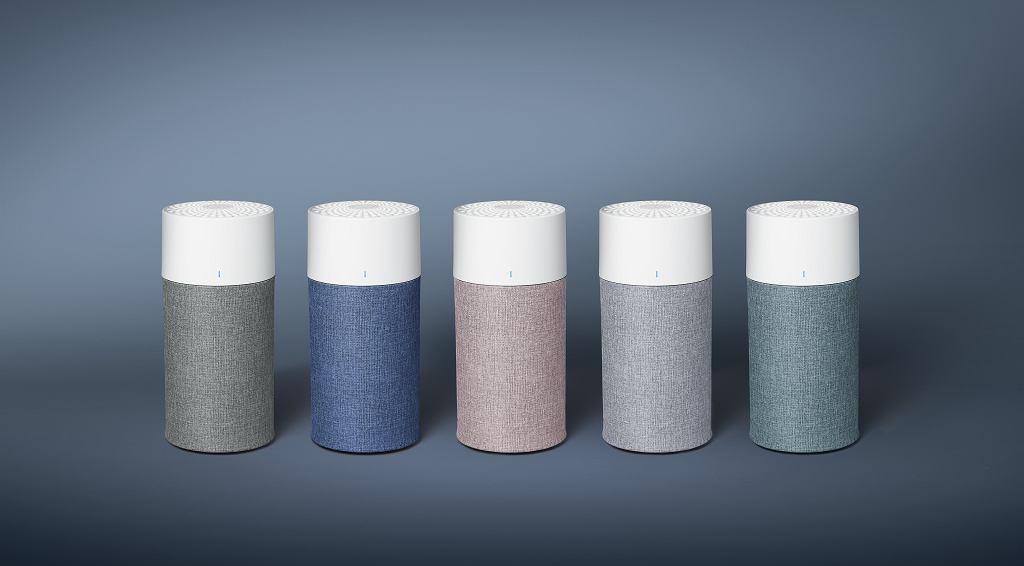 Oczyszczacze powietrza Blue w pięciu modnych kolorach.