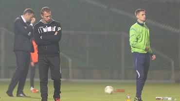 Tomasz Łuczywek podczas meczu I ligi