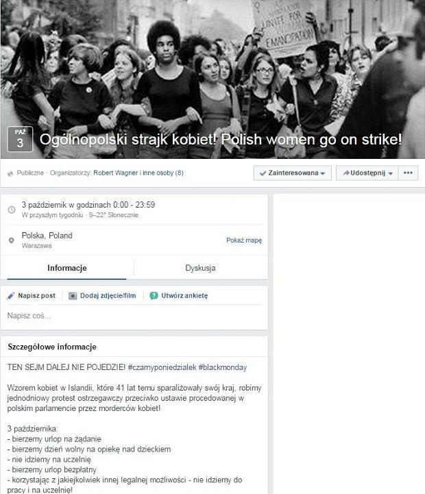 Ogólnopolski strajk kobiet! Polish women go on strike!