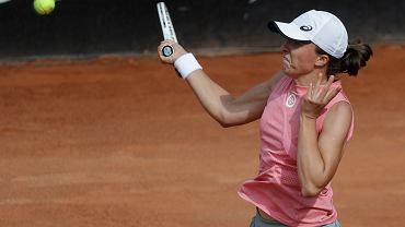 15.05.2021, Rzym, Iga Świątek podczas półfinału w turnieju Italian Open.