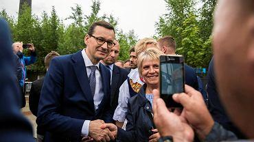 Premier Mateusz Morawiecki na pikniku rodzinnym w Siemianowicach Śląskich