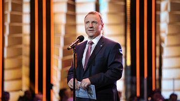 Prezes TVP Jacek Kurski. Wygwizdano go podczas zeszłorocznego festiwalu w Opolu.