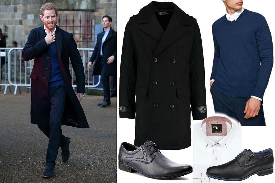 Książę Harry w modnej stylizacji