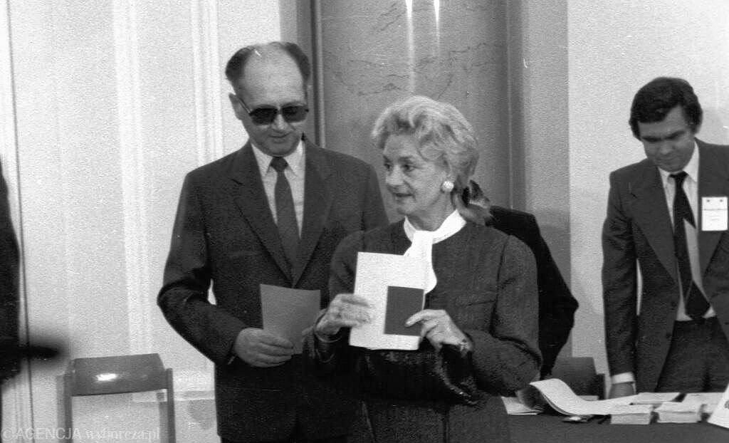 Barbara Jaruzelska i Wojciech Jaruzelski