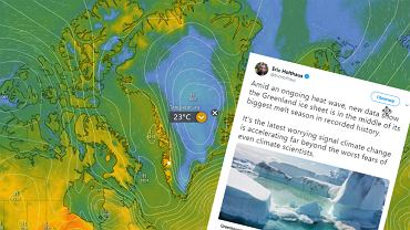 Grenlandia. Rekordowe topnienie lodu.