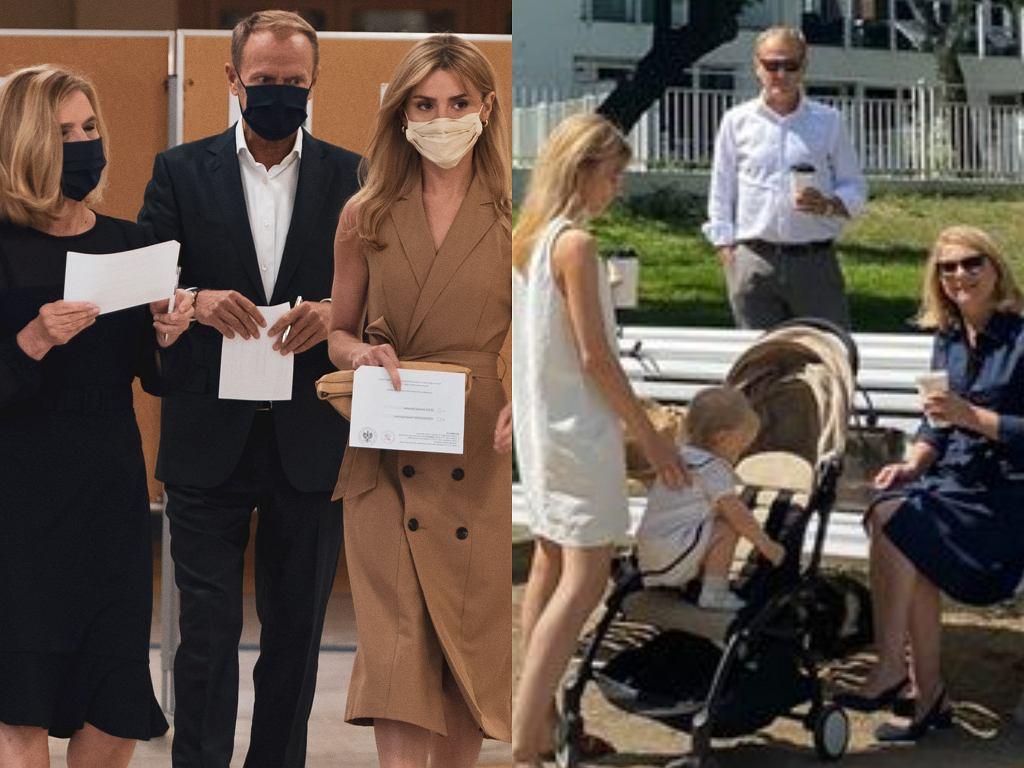 Rodzina Tusków w niedzielę wyborczą