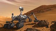 Łazik Curiosity na Marsie - wizja artysty