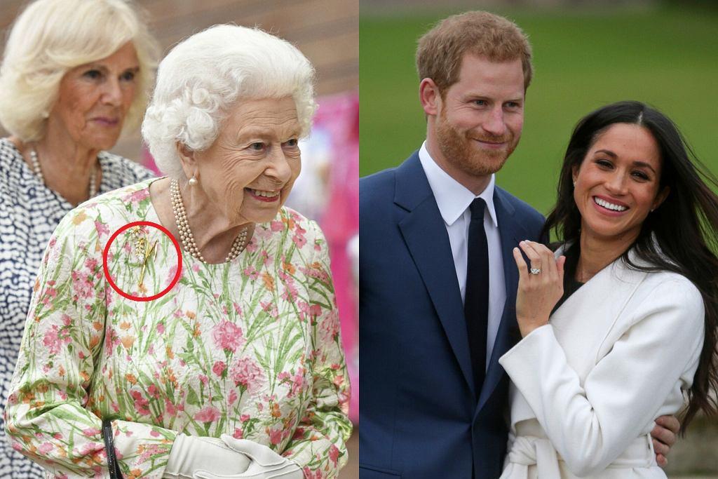 Królowa Elżbieta, Meghan i Harry