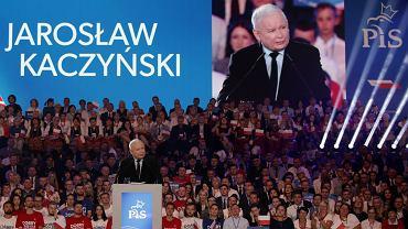Jarosław Kaczyński podczas konwencji wyborczej PiS w Lublinie, 07.09.2019.