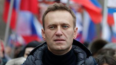 Aleksiej Nawalny podczas demonstracji - pamięci zamordowanego Borisa Niemcowa. Moskwa, 24 lutego 2019
