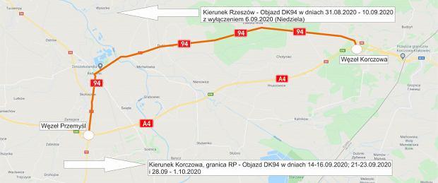 Remont A4 od węzła Przemyśl do węzła Korczowa