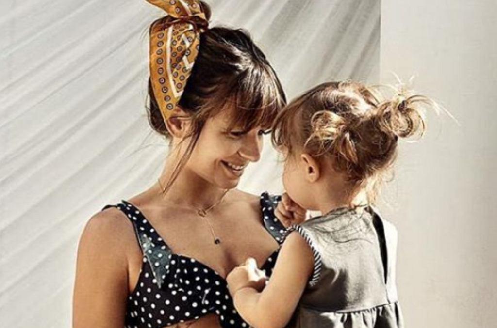 Anna Lewandowska z córką