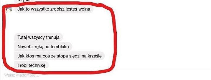 Screen z rozmowy Weroniki Berniak z trener Anną Mrozińską