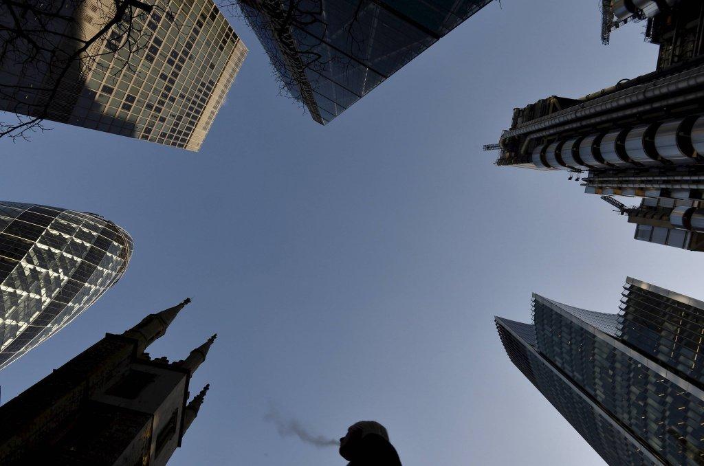 Wieżowce w londyńskim City