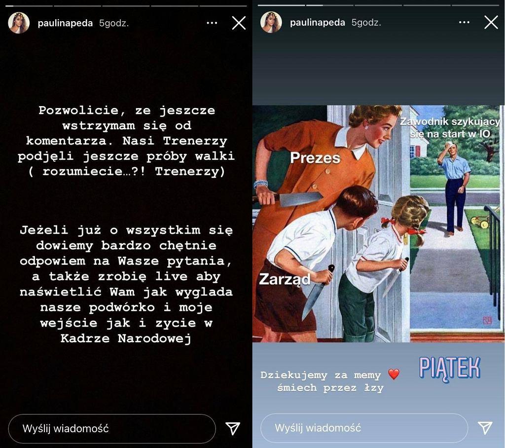 Posty Pauliny Pedy na Instagramie
