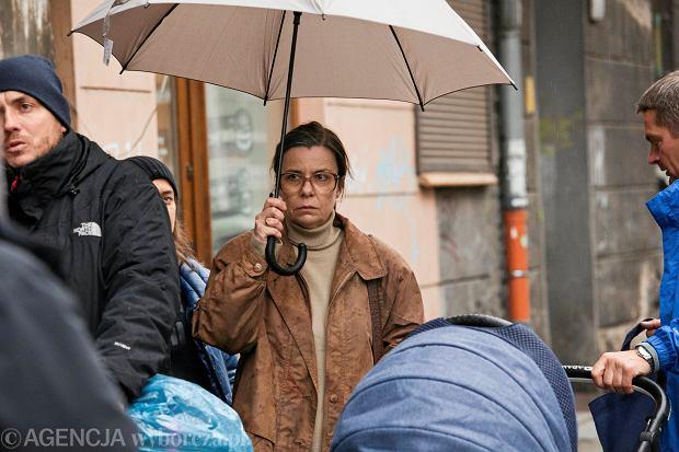 27.11.2019 Wroclaw , plan filmu o Tomaszu Komendzie . Wystepuje Agata Kulesza .  Fot . Krzysztof Cwik / Agencja Gazeta