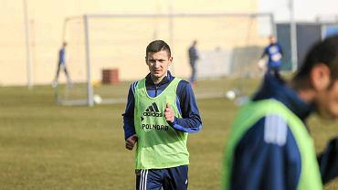 Paweł Wojowski na treningu Arki