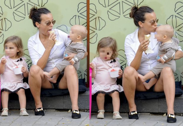 Anna Mucha z dziećmi