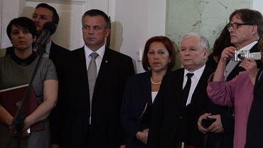 Barbara Skrzypek u boku Jarosława Kaczyńskiego