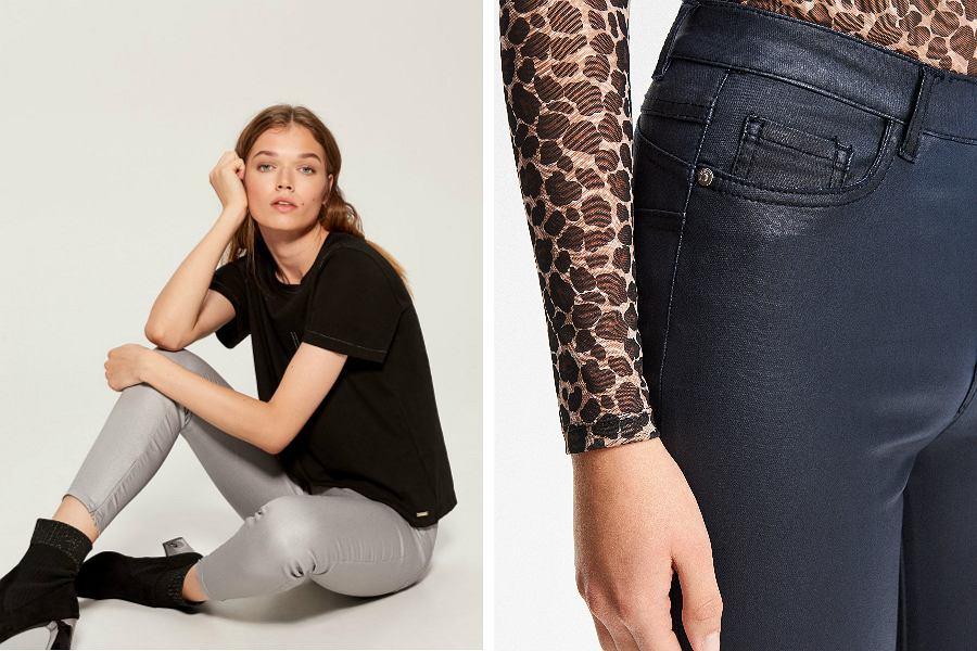 Woskowane spodnie z popularnych sieciówek