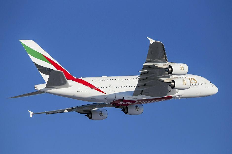 Samolot Airbus A380 linii Emirates - zdjęcie ilustracyjne