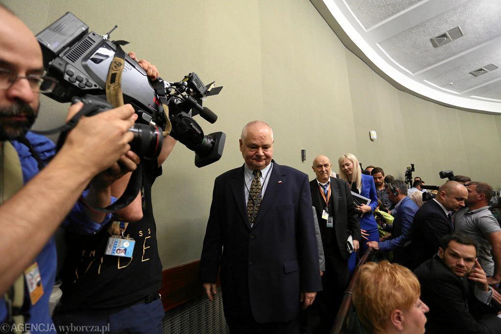 Adam Glapiński po wyborze na prezesa NBP, 10 czerwca 2016 r.