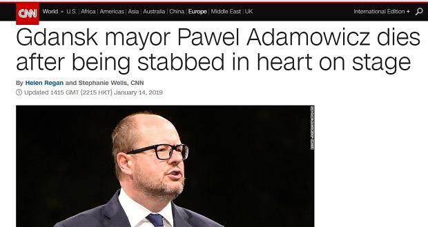 CNN o tragedii w Polsce