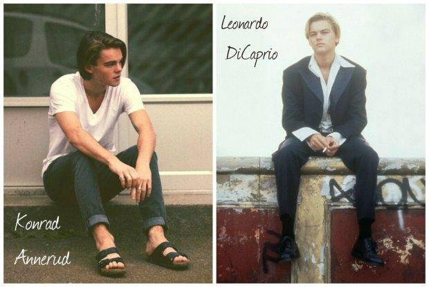 Konrad Annerud, sobowtór Leonardo DiCaprio