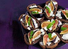 Tartinki z serem kozim i figami - ugotuj