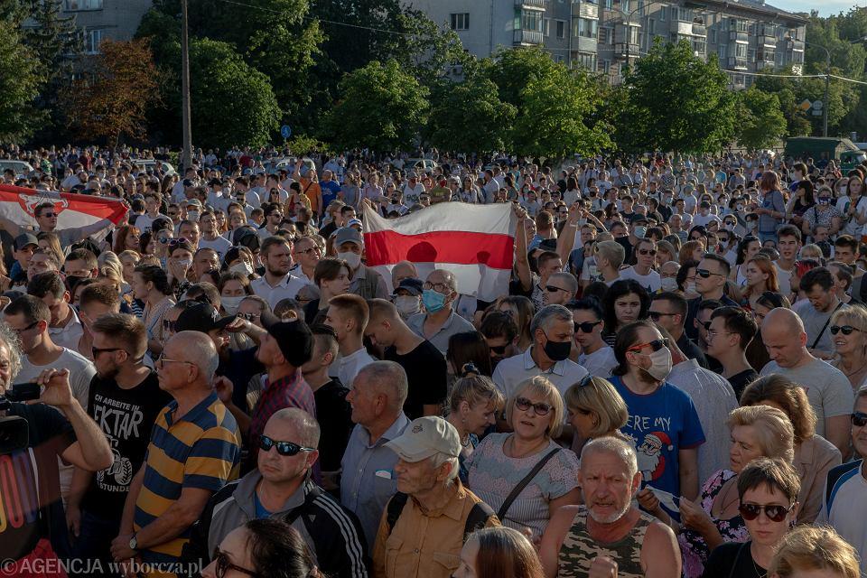 Wiec poparcia dla białoruskiej opozycji, 6 sierpnia 2020 r.